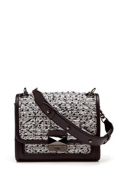 Karl Lagerfeld Quilted Tweed Small Bag Black/White Bubbleroom.dk