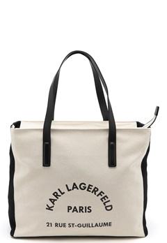 Karl Lagerfeld Rue Lagerfeld Beachbag Natural Bubbleroom.dk