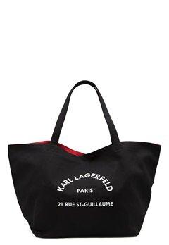 Karl Lagerfeld Rue St Guillaume Canvas 999 Black Bubbleroom.dk