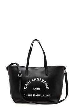 Karl Lagerfeld Rue St Guillaume Tote Black/Nickel Bubbleroom.dk