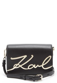 Karl Lagerfeld Signature Shoulder Bag Black/Gold Bubbleroom.dk