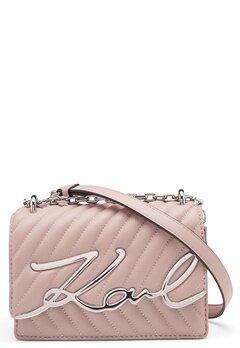 Karl Lagerfeld Signature Stitch S Bag 526 Powder Pink Bubbleroom.dk