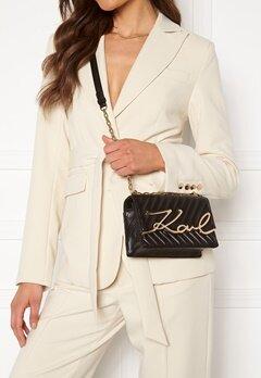 Karl Lagerfeld Signature Stitch S Bag 997 Black/Gold Bubbleroom.dk
