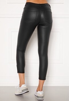 Noisy May Kimmy NW Coated Ankle Pants Black Bubbleroom.dk