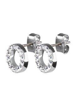 Dyrberg/Kern Koro Crystal Earrings Silver Bubbleroom.dk