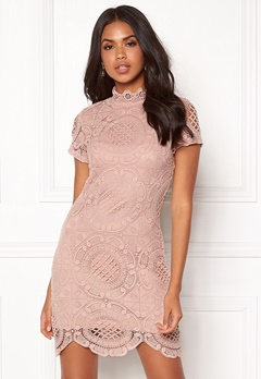 Girl In Mind Lace Dress Mauve Bubbleroom.dk