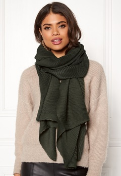 Pieces Lamilla Long Scarf Olive Night Bubbleroom.dk