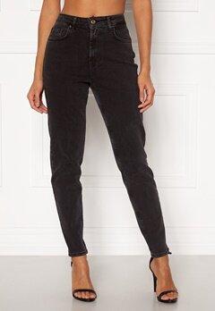 Pieces Leah Mom HW Jeans Black Bubbleroom.dk