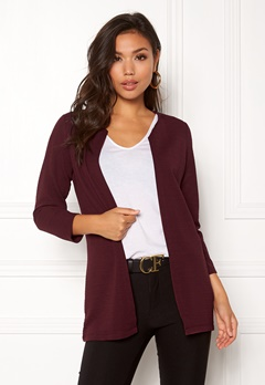 ONLY Leco 7/8 Long Cardigan Port Royale Bubbleroom.dk