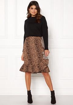VERO MODA Leo N/W Wrap Skirt Snow White / Leopard Bubbleroom.dk