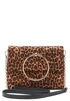 New Look Leopard Matilda Metal Bag Brown Pattern Bubbleroom.dk