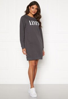 LEVI'S Crew Sweatshirt Dress Forged Iron Bubbleroom.dk