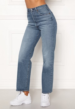 LEVI'S Ribcage Straight Ankle Jeans 0019 Jive Swing Bubbleroom.dk