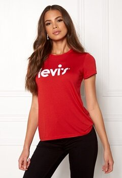 LEVI'S The Perfect Tee 0354 Chinese Red Bubbleroom.dk