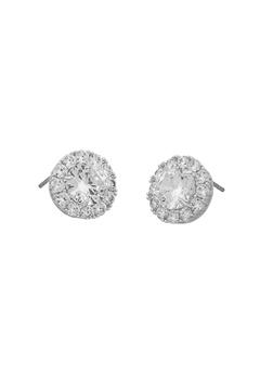 SNÖ of Sweden Lex Stone Earrings Silver/Clear Bubbleroom.dk