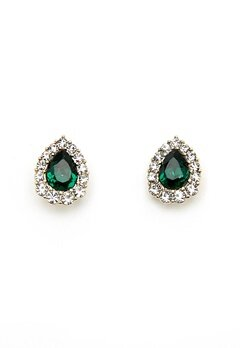 LILY AND ROSE Amelie Earrings Emerald Bubbleroom.dk