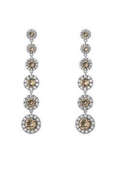 LILY AND ROSE Celeste Earrings Diamond Grey Bubbleroom.dk
