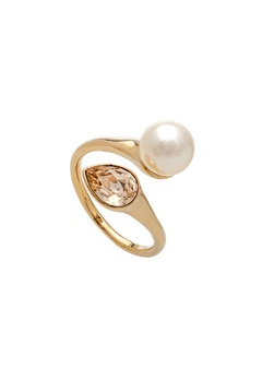 LILY AND ROSE Ella Pearl Ring Ivory Bubbleroom.dk