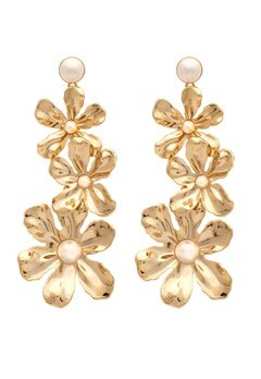 LILY AND ROSE Eponine Pearl Earrings Ivory Bubbleroom.dk