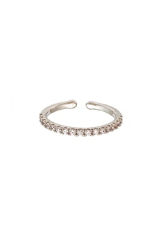 LILY AND ROSE Kennedy Ring Crystal (Silver) Bubbleroom.dk