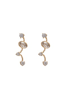 LILY AND ROSE Petite Siri Earrings Crystal/Gold Bubbleroom.dk