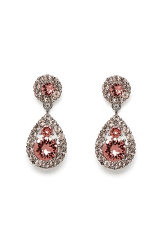 LILY AND ROSE Petite Sofia Earring Rose Peach/Silver Bubbleroom.dk