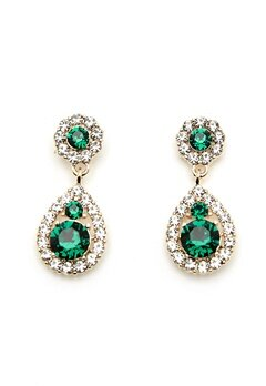 LILY AND ROSE Petite Sofia Earrings Emerald Bubbleroom.dk