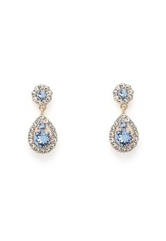 LILY AND ROSE Petite Sofia Earrings Light Sapphire Gold Bubbleroom.dk