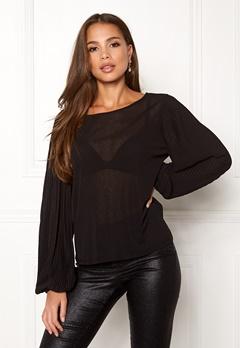 VILA Lisli L/S T-shirt Black Bubbleroom.dk