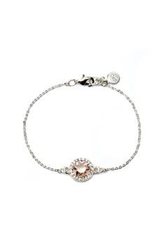 SNÖ of Sweden Lissy Chain Bracelet Silver/Vintage Rose Bubbleroom.dk