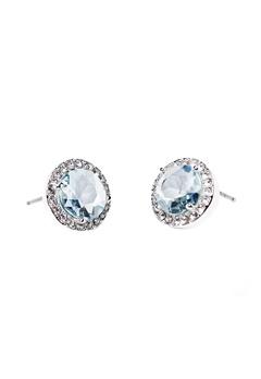 SNÖ of Sweden Lissy Stone Earrings Silver/Light Aqua Bubbleroom.dk