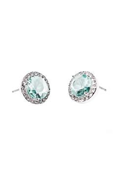 SNÖ of Sweden Lissy Stone Earrings Silver/Sapphire Bubbleroom.dk