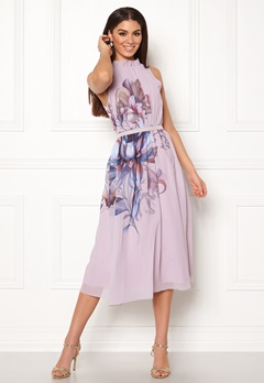 Little Mistress Blush Midi Dress Blush Bubbleroom.dk