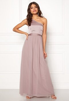 Little Mistress Megan Oneshoulder Dress Mink Bubbleroom.dk