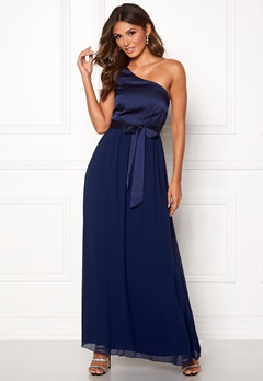 Little Mistress Megan Oneshoulder Dress Navy Bubbleroom.dk