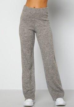Lojsan Wallin x BUBBLEROOM Knitted wide leg pants Grey bubbleroom.dk
