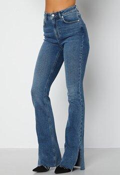 Lojsan Wallin x BUBBLEROOM Slit jeans Medium blue bubbleroom.dk