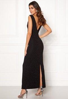 DRY LAKE Loreen Lurex Dress 008 Black Glitter Bubbleroom.dk