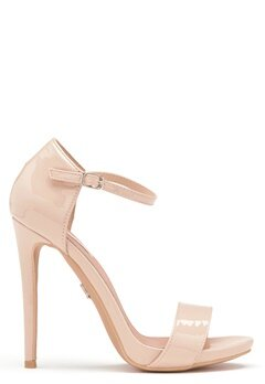 LOST INK Blossom Stiletto Sandal Nude Bubbleroom.dk