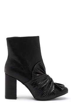 LOST INK Daisy Bow Ankle Boot Black Bubbleroom.dk