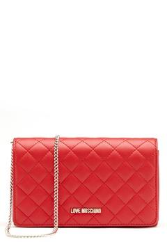 Love Moschino Love M Small Bag Red Bubbleroom.dk
