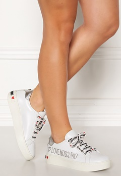 Love Moschino Moschino Leather Sneakers White Bubbleroom.dk