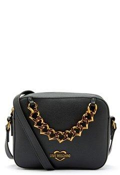 Love Moschino New Chain Heart Bag 000 Black Bubbleroom.dk