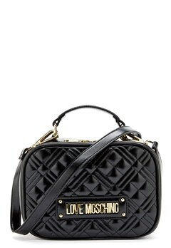 Love Moschino New Shiny Quilted Bag 000 Black Bubbleroom.dk