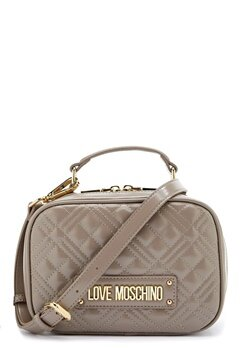 Love Moschino New Shiny Quilted Bag 001 Grey Bubbleroom.dk