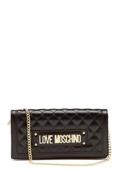 Love Moschino New Shiny Quilted Black Bubbleroom.dk