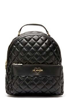 Love Moschino Quilted Backpack Black/Gold Bubbleroom.dk