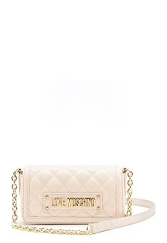 Love Moschino Quilted Chain Bag Ivory Bubbleroom.dk