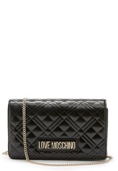 Love Moschino Quilted Evening Bag Black Bubbleroom.dk