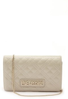 Love Moschino Quilted Evening Bag Ivory Bubbleroom.dk